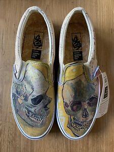 Vans-Vincent-Van-Gogh-Skull-Slip-On-Size-8-5