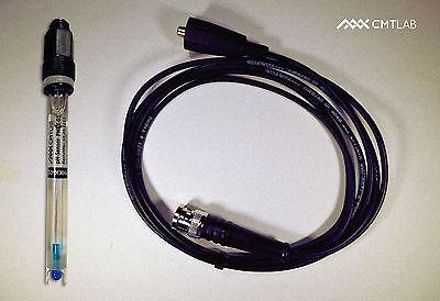 Ph-elektrode, Robuster Kunststoffschaft +bnc Messkabel 2m, Industriequalität SorgfäLtige FäRbeprozesse