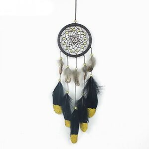 Large-Blue-Dream-Catcher-Wall-Hanging-Decoration-Ornament-Handmade-Feather-Craft