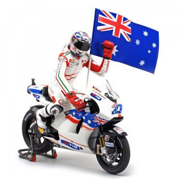 1 12 Minichamps Ducati Desmosedici Casey Stoner 2009 Philip Island Moto GP NEW