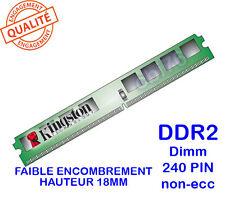 Mémoire 1GO DDR2 PC2-3200U 240PIN 400Mhz Kingston KVR400D2N3/1G slim