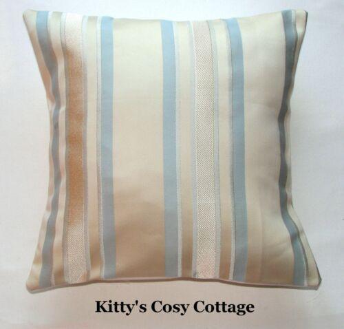 """16/"""" Laura Ashley /'Forbury Stripe/' Duck Egg cushion cover"""