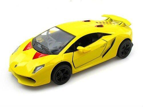 "Kinsmart Lamborghini Sesto Elemento 1:38 scale 5"" diecast model Yellow K76"