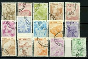Vietnam-1984-Mi-1529-1543-Usato-100-Natura-Mondiale-Animal