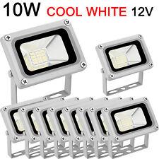 10x 10W Flood Light LED Spot Light Cold White Floodlight Outdoor Garden Lamp 12V