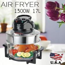 17L Digital Electric Air Fryer Oil-Less Griller Roaster Calorie Reducer Healthy