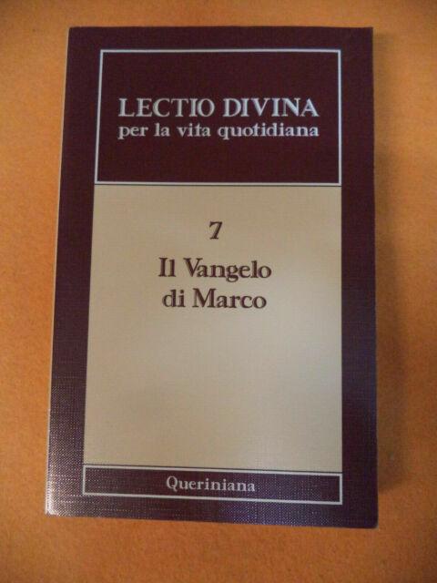Book libro LECTIO DIVINA PER LA VITA QUOTIDIANA 7 il vangelo di Marco 2005 (L6)