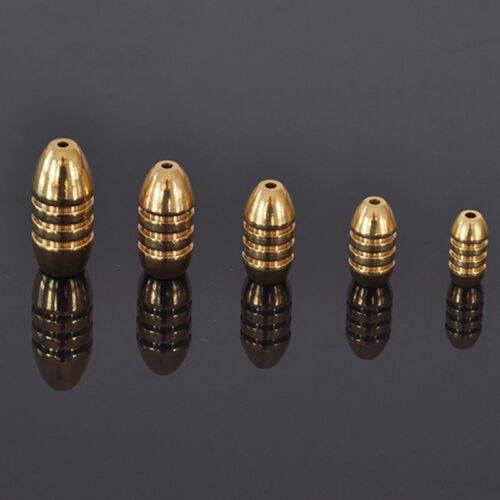 5x Fisch Sinkers Kupfer Rig Angeln Bullet 1.8//3.5//5//7//10g-Süßwasser .