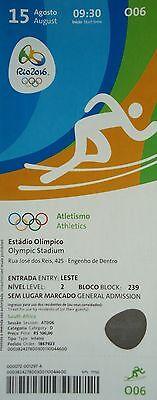 Sports Memorabilia Olympic Memorabilia Responsible Mint Ticket 15/8/2016 Olympic Games Rio Leichtathletik # O06 High Quality Goods