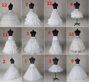 A-Line-Petticoat-White-Short-Underskirt-Hoop-No-Bridal-Crinoline-Wedding-Dress