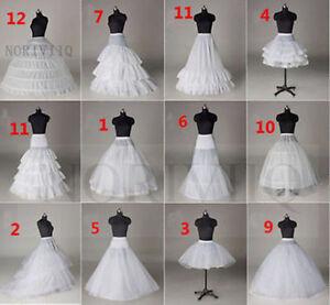 Petticoat-For-Wedding-Dress-White-Underskirt-Hoop-No-Bridal-Crinoline