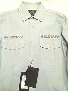 Belstaff-Steward-Long-Sleeve-Utility-Work-Shirt-NWT-Small-Made-in-Italy