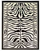Large Wildlife Zebra Black & Cream Animal Print Wilton Rug 160x220cm