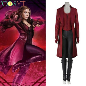 Scarlet Witch Cosplay Costume Coat Woman Halloween Outfit
