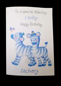 Handmade Personalised Boys 1st Birthday Card Any Name Or Age Ebay