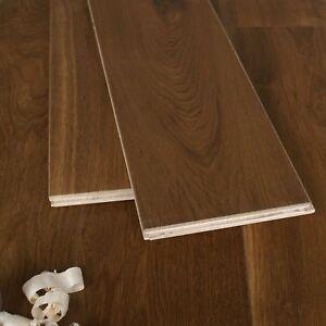 20/6 Natural Brown Smoked Oak Engineered Oak Flooring - Smoothly Oiled - ECHS