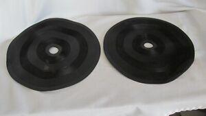 Turntable-Parts-2-Rubber-Mat-Mats-11-7-8-034-Lot-38
