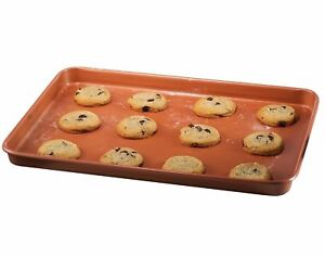 """Gotham Steel Nonstick Copper Cookie Sheet and Jelly Roll Baking Pan 12"""" x 17"""""""