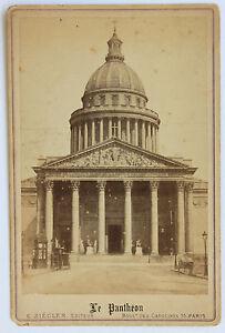 Le Panthéon E. Ziégler Carte Cabinet Vintage Albumine 1880