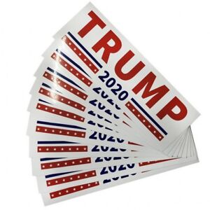 10Pcs-Donald-Trump-For-President-2020-Bumper-Sticker-Keep-America-Great-Decal