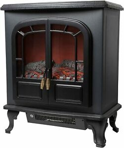 Warmlite 2 Door Electric Stove Heater Realistic LED Log Fire Portable Wingham