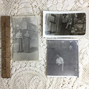 Antique Photo Young Woman Mother 1900s Homestead Walker California Mona Franklin