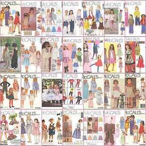 OOP-McCalls-Sewing-Pattern-Childs-Toddlers-and-Little-Girls-Outfits-You-Pick