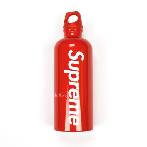 NWT Supreme NY x Sigg Red Box Logo Aluminum Metal Water Bottle SS18 DS AUTHENTIC