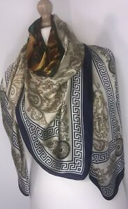 Designer-Inspired-Scarf-Pashmina-Baroque-Navy-Oversized-Silky-Soft-Stunning