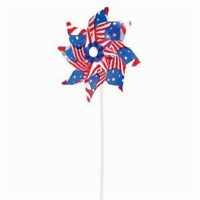 Stars And Stripes - American Flag Pin Wheels 4th Of July Wind Spinners 12 Pack
