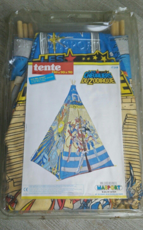 Les chevaliers du zodiaque vintage Rare tente de 1989 jamais servie Saint Seiya.