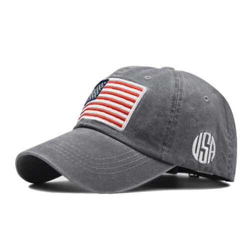Baseball Cap Mens Tactical Army Cotton Military Dad Hat USA American Flag Y1
