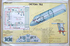 1978 MGA AEROFLOT Soviet Airlines JAK-40 SYSTEM PVD Technical Big Size Poster