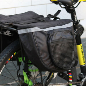 Mountain Bike Cycling Saddle Bag Seat Pouch Bicycle Tail Rear Storage Black 25L
