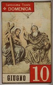 Santo Del Giorno Calendario.Dettagli Su Foglio Di Calendario Santo Del Giorno Santissima Trinita 10 Giugno 900 Sa461