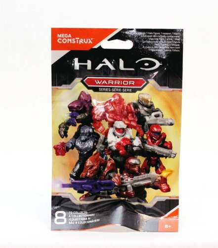 8 to collect NEW Halo Mega Construx Warrior Series Blind Bag Figure Blind pack