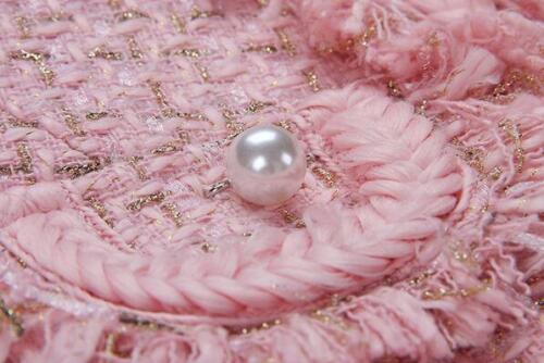 Sæt Woolen One Short Tassel Jakke Outwear Button Pink 2019 Jakker Slim Kvinders x7TUZ0T