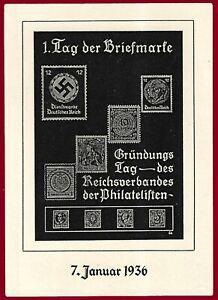 German WW 2 Third Reich postcard  Stamp Day 1936