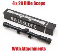 Tactical Mountable 4x20 Riflescope Mounts Rifle Bb Gun Telescopic Scope Sight