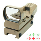 Tactical Holographic Reflex Sight Red - Green 4 Reticles with Rail Mount - Tan