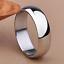 Anello-Fede-Fedina-Fascia-6-mm-Uomo-Donna-Unisex-Acciaio-Idea-Regalo-argento miniatura 3