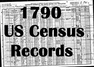 Details about Old US Census Records from 1790 United States Geneology  Historical Books on CD