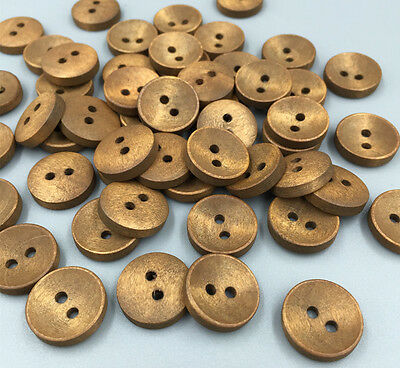 50/100 Wooden Buttons Sewing Scrapbooking Round Button 2 Holes Crafts 15mm