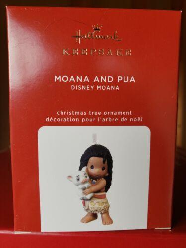 NIB 2020 Hallmark Ornament  Moana and Pua  Precious Moments Disney New Porcelain