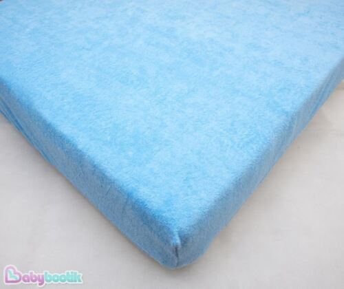 Waterproof Mattress Protector Fitted Sheet 120x60cm Breathable Baby Terry Cover