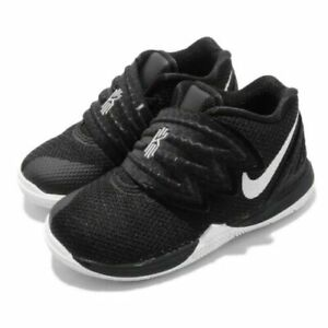 Nike Kyrie Irving 5 TD Infant Baby Shoes Black White AQ2459-901 Size 5C