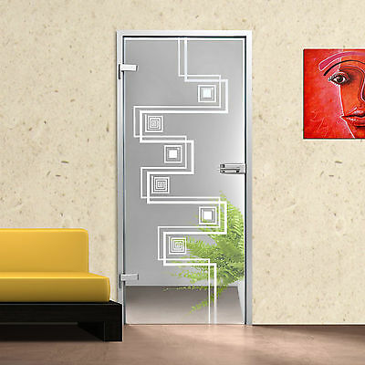 Zimmertüren FäHig Glastür Gds280-f Klarglas Mit Dekor Facettensteine Kristall Gesundheit FöRdern Und Krankheiten Heilen