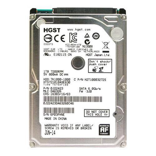 Storage Drives//Hard Drives//Solid State Drives Hgst Travelstar 7K1000 Hts721010a9e630 1 Tb 2.5 Internal Hard Drive Sata 7200 RPM 32 Mb Buffer Product Type