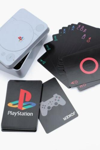Playstation Playing Cards Novelty Retro PS One Console Gift Tin Deck Card Set UK