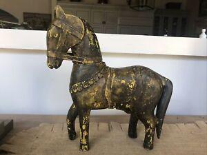 Antique Handmade WOODEN HORSE, ADJUSTABLE,c.1890-1930s